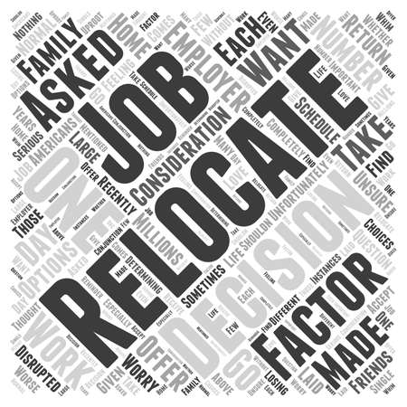 Should You Relocate If Asked By Your Employer word cloud concept