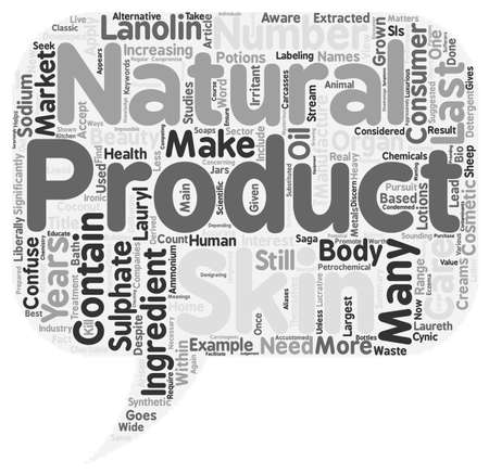 What Goes Into Skin Care Products text background wordcloud concept