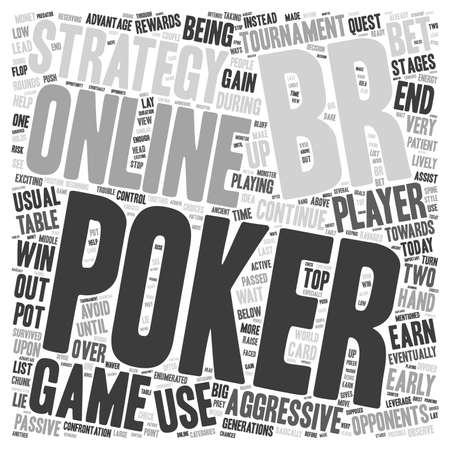 online poker strategy 1 text background wordcloud concept