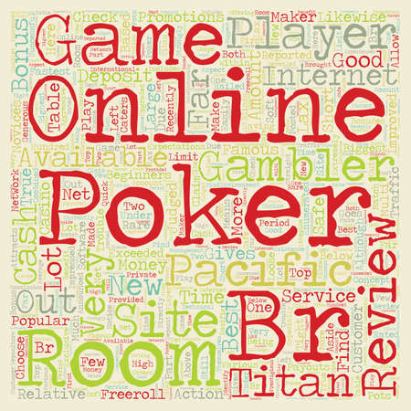 online poker room reviews 1 text background wordcloud concept