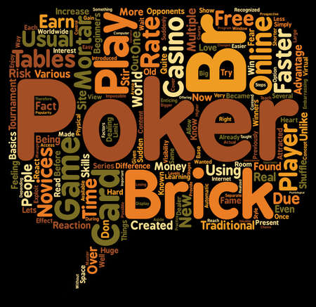 online poker game card 1 text background wordcloud concept
