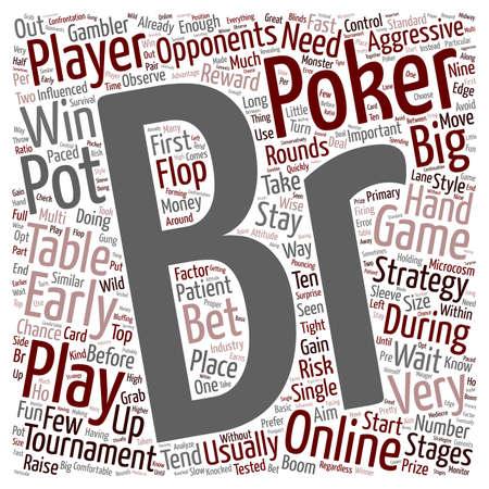 online poker tournaments text background wordcloud concept