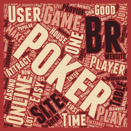 online poker sites 1 text background wordcloud concept