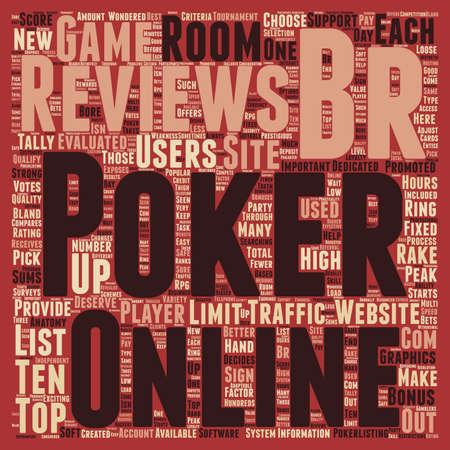 online poker reviews text background wordcloud concept