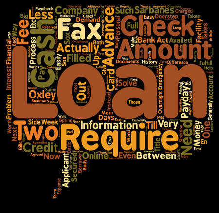 Cash Advance Loans Are The Fees Worth It text background wordcloud concept
