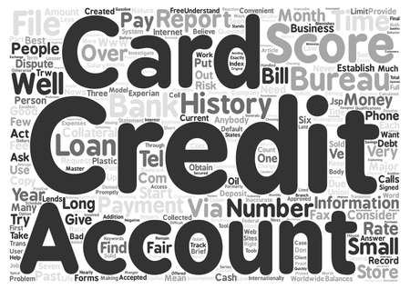 Credit Cards For Anybody text background word cloud concept