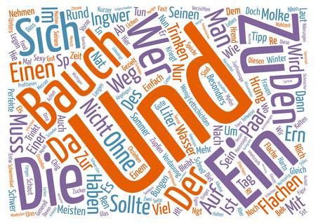 Bauch muss weg Word Cloud Concept Text Background