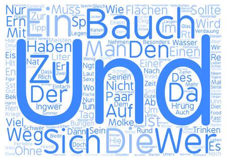 Bauch muss weg text background word cloud concept