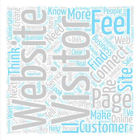 How Does Your Website Make Me Feel text background word cloud concept
