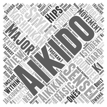 aikido yoshinkan Word Cloud Concept