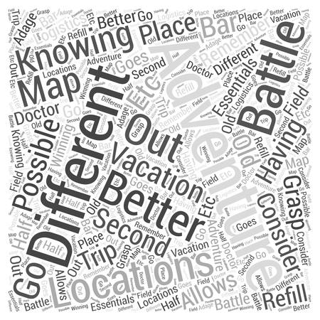an adventure vacation to remember Word Cloud Concept.