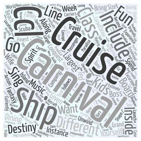 carnival cruise line Word Cloud Concept