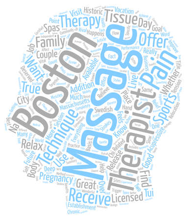 Get A Massage In Boston text background wordcloud concept