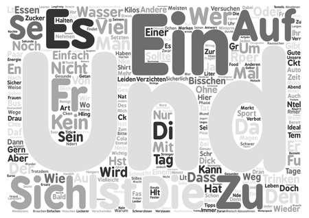 Abnehmen ohne zu leiden text background word cloud concept