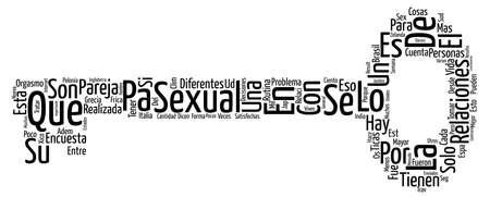 Estas satisfecho con tus relaciones sexuales text background word cloud concept