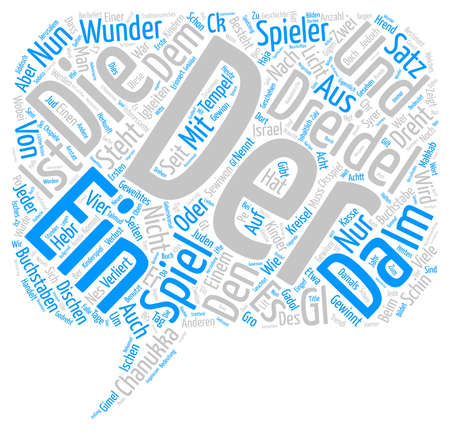 Dreidel Glckspiele seit der Kindheit text background wordcloud concept
