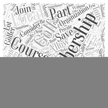 Golf Memberships Word Cloud Concept