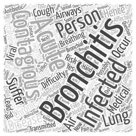How long is bronchitis contagious Word Cloud Concept.