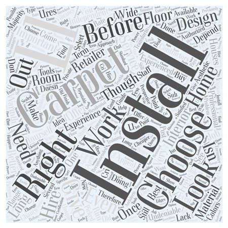 Installing Carpet Word Cloud Concept