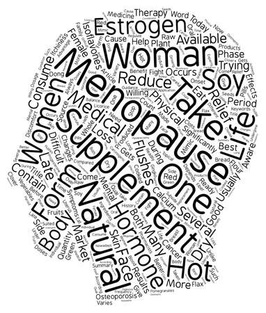 Menopause Supplements text background wordcloud concept