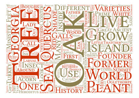 History Of Oak Trees Quercus Sp Word Cloud Concept Text Background