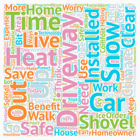 Benefits Of A Heated Driveway For Residential Use text background wordcloud concept