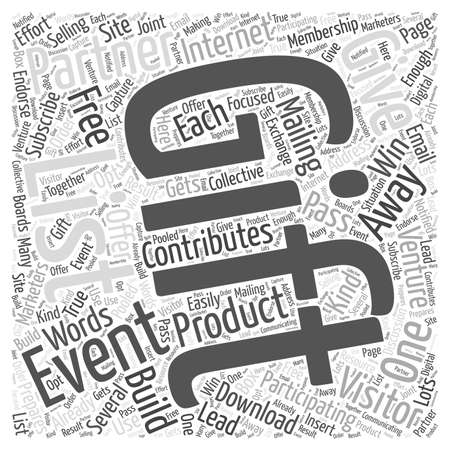 Building Your List with Give Away Ventures Word Cloud Concept