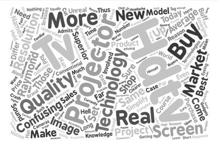 Hdtv projectors text background word cloud concept.