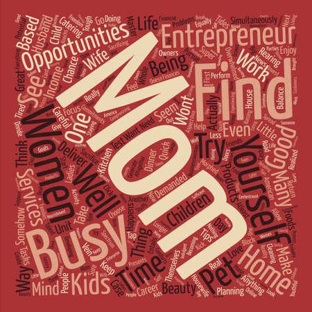 Women Entrepreneurs text background word cloud concept