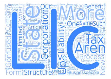 LLC FAQ text background word cloud concept