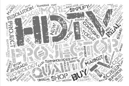 hdtv projectors Word Cloud Concept Text Background