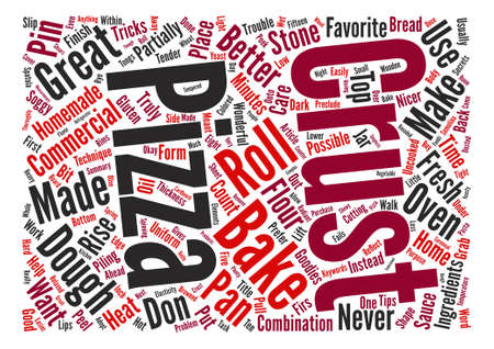 Tips For Great Pizzas Word Cloud Concept Text Background