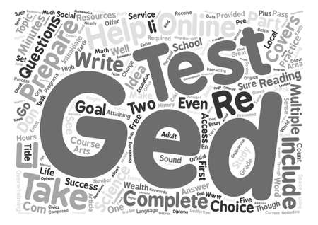 How You Can Prepare For Your GED text background word cloud concept
