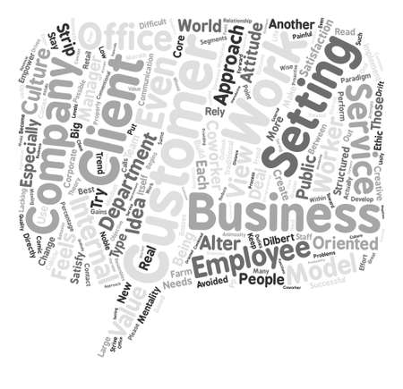 The Client Coworker Word Cloud Concept Text Background