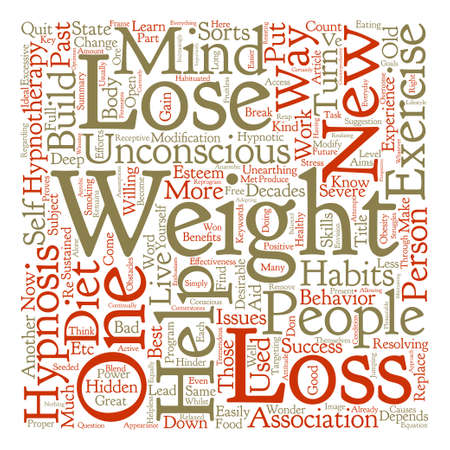 How Hypnosis Can Help On Weight Loss text background word cloud
