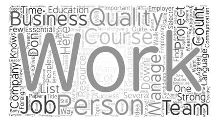 Seven Qualities to Get a Job You Want Word Cloud Concept Text Background