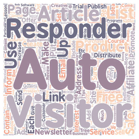 Creative and Profitable Ways in which to Use AutoReponders text background wordcloud concept