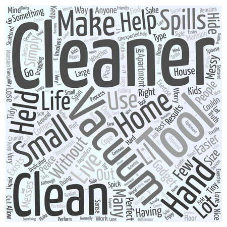 Hand Held Vacuum Cleaner Word Cloud Concept