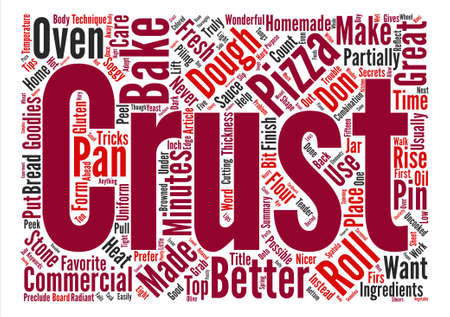 Tips For Great Pizzas text background word cloud concept