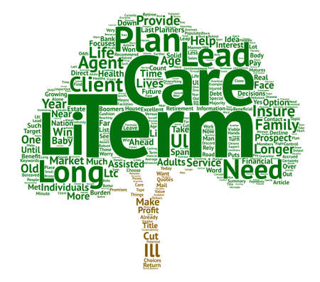 Long Term Care The Who The What and The How Word Cloud Concept Text Background