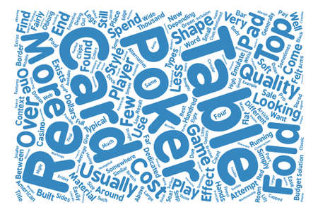 Is a new poker table on the cards Word Cloud Concept Text Background