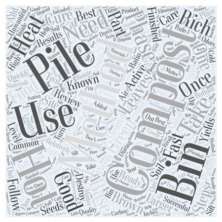 Review of Steps to Successful Composting Word Cloud Concept