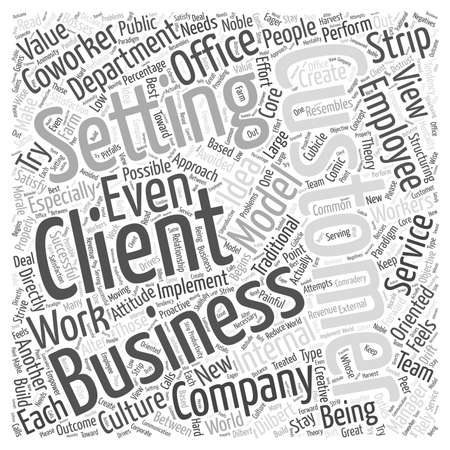 The Client Coworker Word Cloud Concept.
