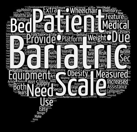 Bariatric Scales Word Cloud Concept Text Background
