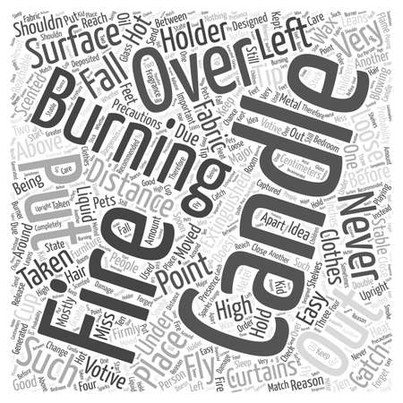 Precautions To Be Taken While Burning Candles Word Cloud Concept