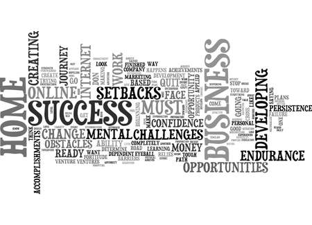 A MENTAL GUIDE FOR HOME BUSINESS SUCCESS TEXT WORD CLOUD CONCEPT