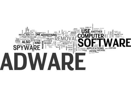 ADWARE REMOVAL TEXT WORD CLOUD CONCEPT