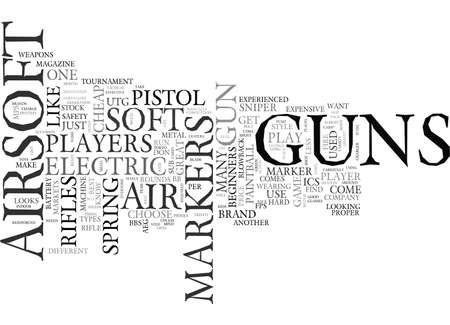 AIRSOFT GUNS AIR SOFT GUNS TEXT WORD CLOUD CONCEPT