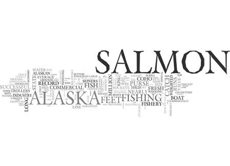 ALASKA S COMMERCIAL SALMON FISHERY TEXT WORD CLOUD CONCEPT