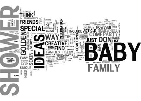 BABY SHOWER IDEAS WHICH OF THESE GOLDEN TIPS DO YOU NEED TO THROW A SUCCESSFUL BABY SHOWER TEXT WORD CLOUD CONCEPT